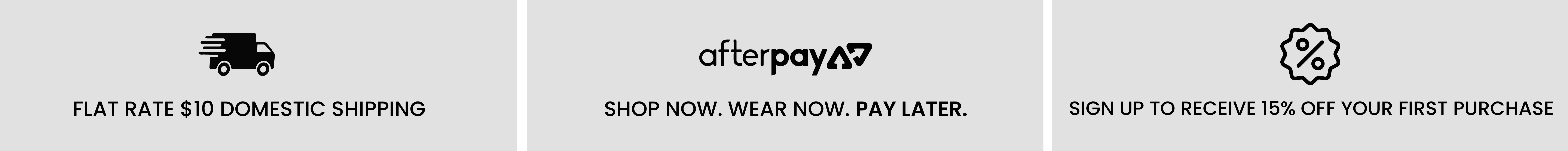 $10 Flat Rate Domestic Shipping | Pay with Afterpay | Sign up for 15% Off First Purchase
